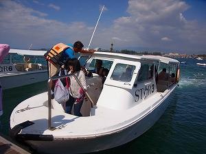 サピ島でシュノーケル体験