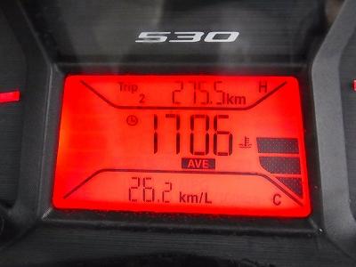 T-MAX530の燃費が26.2km/ℓ