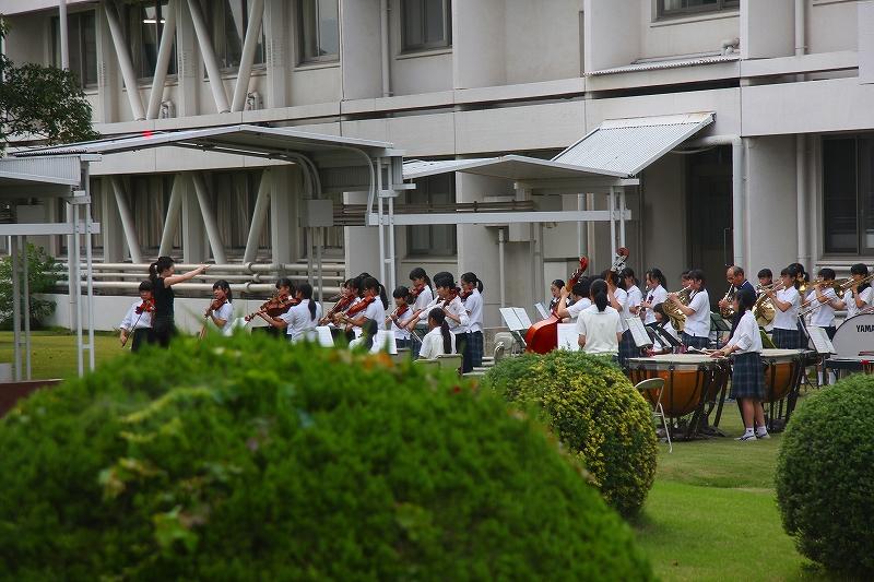 オーケストラ部が文化祭に向けて練習