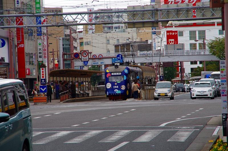 高知市街地の路面電車