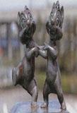 「チップとデール」野外彫刻イメージ