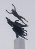 「人とペガサス」野外彫刻イメージ