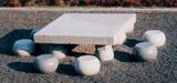 「石の碁盤」野外彫刻イメージ